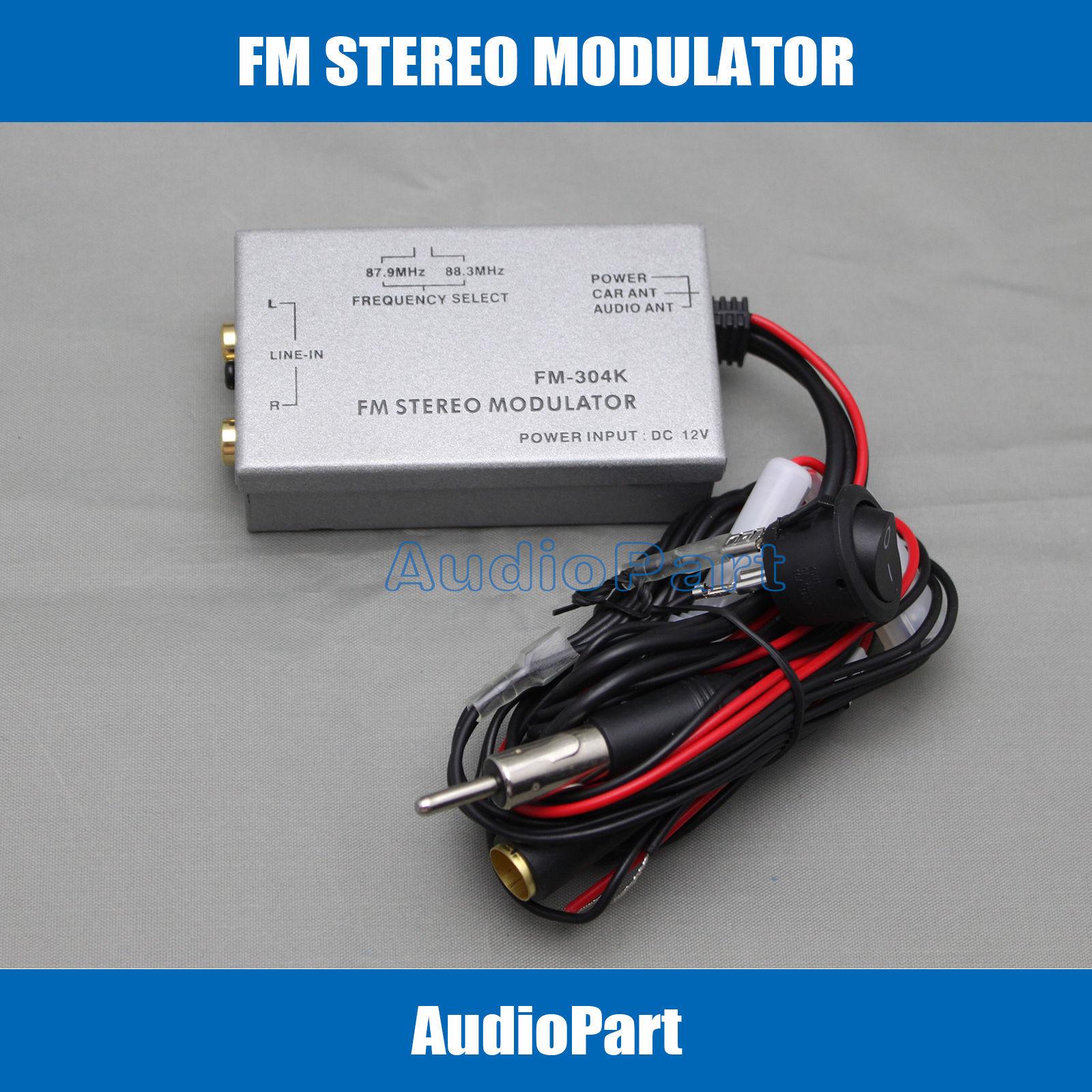 APS NC SHIPPING Factory Radio Stereo FM Modulator RCA AUX Input Audio Converter