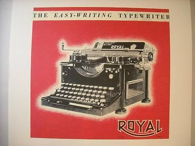 Vintage Royal Typewriter Ad Reprint Poster