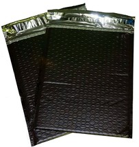 100 Black 6x10 Poly Bubble Mailer Envelope Shipping Wrap Sealed Air Bags... - $27.99