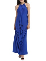 Slimming Halter Flounce Maxi Dress  - $47.95