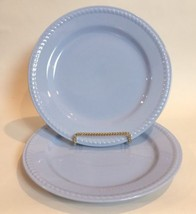 Vintage Homer Laughlin KRAFT BLUE Lot Of TWO Dinner Plates Rope Edge  - $25.73