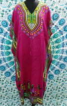 FREE SHIP Boho African Raspberry Kimono Kaftan Dress~Beach Cover-up~Free Size - $11.75