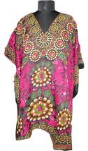 Women's Gorgeous Digital Pink Kaftan~V-Neck Top~Kimono Tunic~Free Size Dress - $8.15