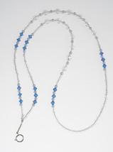 Sapphire Crystal Pearl Lanyard// ID Badge Holder - $19.99