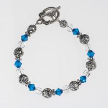 Birthstone Crystal and Silver Bracelet - $10.00