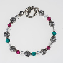 Holiday Crystal and Silver Bracelet - $15.00