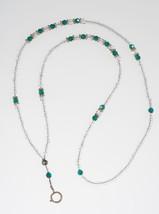 Emerald Crystal Green Lanyard// ID Badge Holder - $19.99