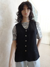 2 pc. Set Ladies Vintage Vest by Rampage Matched Lace Blouse by Basil (#... - $22.99
