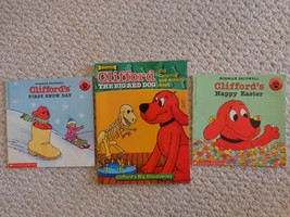 3 Clifford Books, 2 Readers & 1 Coloring Book (#1408) - £7.62 GBP