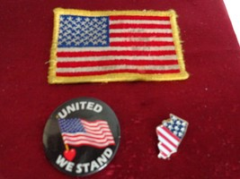 3 Pcs. United States Cloth Patch, a United We Stand & Illinois Pin (#1006) - $8.99