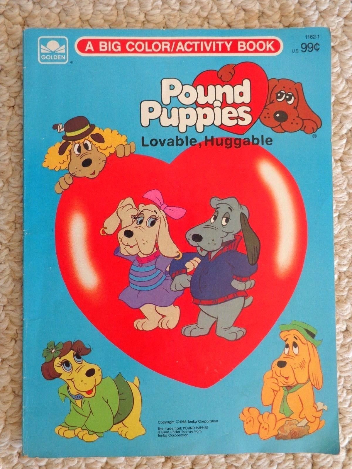 Book: Pound Puppies a Big Color/Activity Book. Copyright 1986 (#1511)