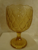 GOLDEN/AMBER GLASS GOBLET (#0350) - $7.99