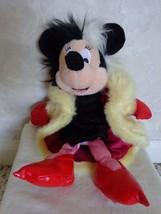 """Minnie Mouse as Cruella deVil"""" 9"""" Bean Bag Toy (#1229)2002 Special 101 D... - $41.99"""