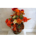 Thanksgiving Turkey Centerpiece adorned with Flowers (#0519) - $21.99