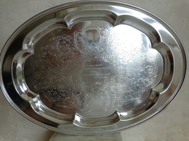 Used Large Ballantine Oval Serving Tray (#0913) - $29.99