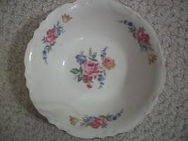 Vintage Flowered Serving Bowl (#0073) - $8.99