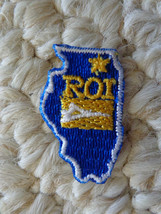 "Small ""ROI"" Stitch-On PATCH in the Shape of ILLINOIS"" (0900). - $2.99"
