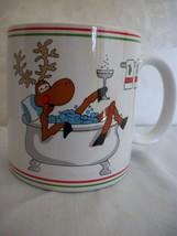"Holiday Reindeer Mug announces in big letters ""CHEERS! (#0349) - $8.99"