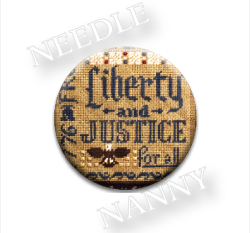 Liberty and Justice Needle Nanny needle minder cross stitch Erica Michaels