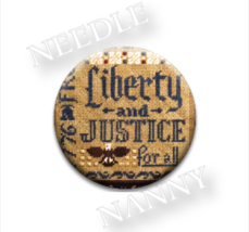 Liberty and Justice Needle Nanny needle minder cross stitch Erica Michaels  - $12.00