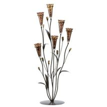 1 LEOPARD LILY BLOSSOM Brown CANDLE TREE Wedding Centerpiece - €39,89 EUR