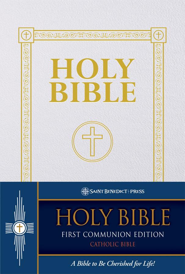 Douay rheims bible  first communion gift  sb2414x