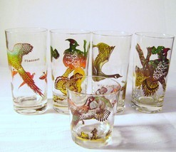 Vintage Hazel Atlas Game Birds  High Ball Glasses - £9.20 GBP