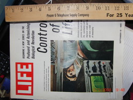 life magazine september 10 1965 control of life - $11.00
