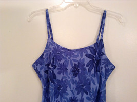 Donna Ricco Petite Blue with Dark Blue Flowers Sleeveless Lined Dress Size 8P image 3