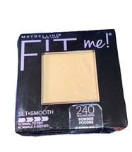Maybelline Fit Me Pressed Powder Set & Smooth Shade #240 Golden Beige - $7.84