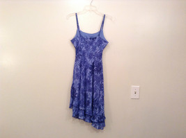 Donna Ricco Petite Blue with Dark Blue Flowers Sleeveless Lined Dress Size 8P image 2