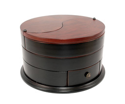 Executive Classic Serenity Ying Yang wooden Jewellery Box  gift  - €71,56 EUR