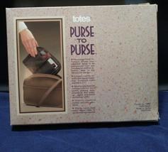 Vtg 1988 Totes 100% Nylon Purse to Purse Black Handbag Organizer Liner NIB NOS image 2