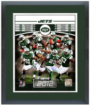 "11""x14"" Framed & Matted 2012 New York Jets Team Photo Composite  - $888,58 MXN"