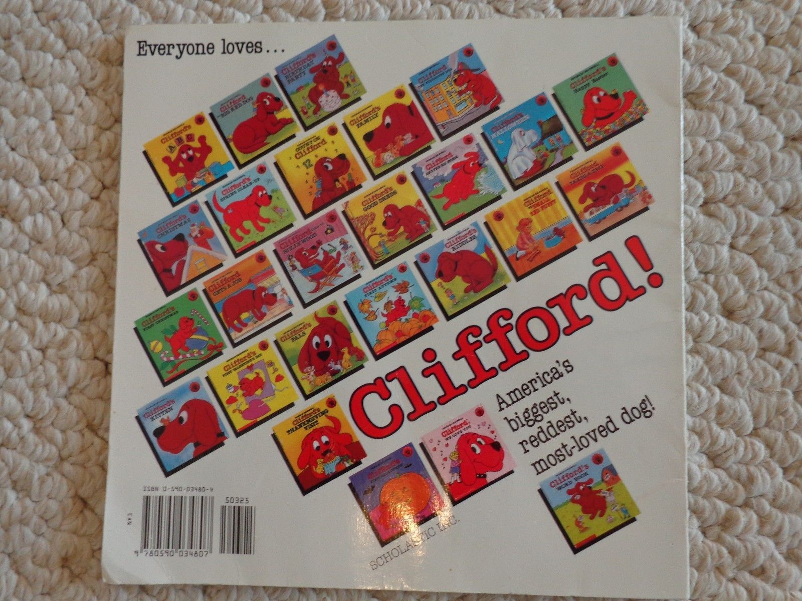3 Clifford Books, 2 Readers & 1 Coloring Book (#1408)