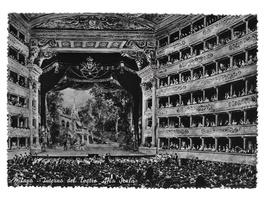 Milan Italy Milano La Scala Opera House Interior Glossy Photo Postcard 4X6 - $5.50