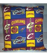 Cavaliers Pillow Cleveland Cavaliers Pillow NBA Handmade in USA LeBron J... - $9.99