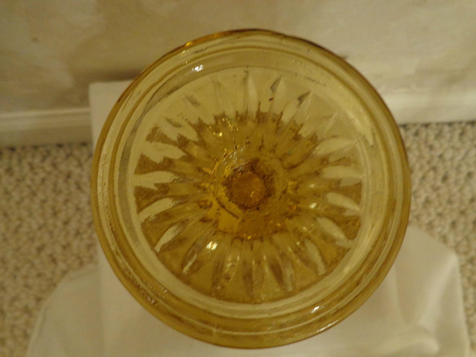 GOLDEN/AMBER GLASS GOBLET (#0350)