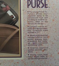 Vtg 1988 Totes 100% Nylon Purse to Purse Black Handbag Organizer Liner NIB NOS image 5