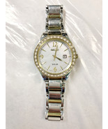 Seiko Womens V137 Two Tone Mother Of Pearl Solar Watch V137 - NEEDS BATTERY - $47.50