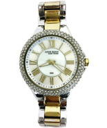 Anne Klein 12/2155 NY Womens Two Tone Silver & Gold Swarovski Crystal Wa... - $47.50