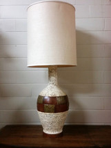 Vintage Mid Century Modern Table Lamp Ceramic W... - $125.99