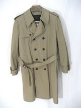 London Fog Double Breast Tan Trench Coat Size 40R - $35.99