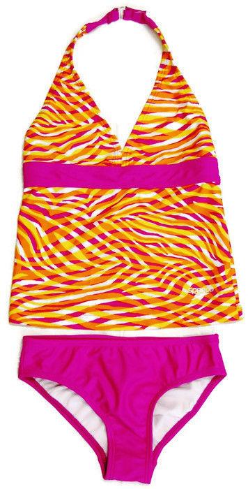 974607ae7e39a SPEEDO NWT Girls 2-Piece ORANGE   PINK Bathing Suit Swimsuit MULTIPLE SIZES