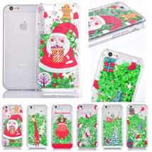 Christmas Gift Xmas Quicksand Plastic Shell Hard Back Case Cover for iPhone 6 6S - $5.17