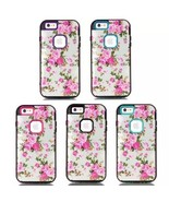 New Flowers Heavy Hybrid Rubber Front Back Case Cover for Apple iPhone6 ... - $9.02