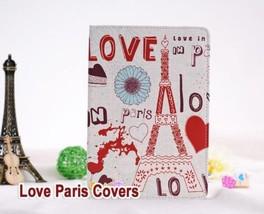 PU Leather Cute Paris Love Flip Smart Stand Cover Case For Apple iPad LOP1 - $11.66