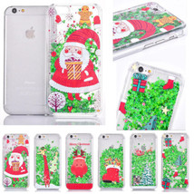 Christmas Gift Xmas Quicksand Plastic Shell Hard Case Cover for iPhone 6 S Plus  - $5.17