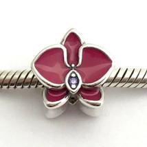 Authentisch Pandora Strahlender Orchidee Emaille & Violett Cz Charm,7902... - $45.87