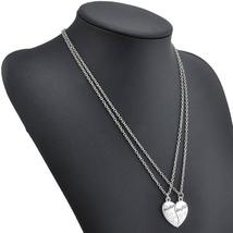 Mother and Daughter Heart necklace - $2.99